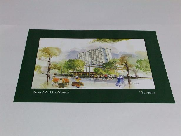 ホテルのポストカード
