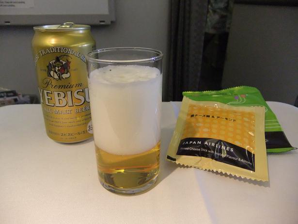 機内で一杯